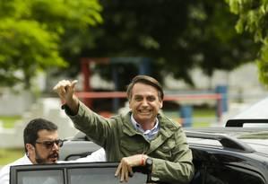 O presidente eleito Jair Bolsonaro foi a 6ª pessoa mais pesquisada do mundo no Google em 2018 Foto: Gabriel de Paiva / Agência O Globo