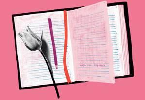 O diário de uma paciente com demência Foto: Catarina Bessell