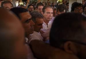 João de Deus apareceu publicamente pela primeira vez nesta quarta-feira, dia 12, desde que as denúncias de abuso sexual vieram a público Foto: Daniel Marenco / Agência O Globo