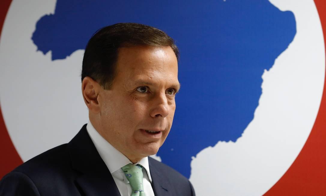 O governador de São Paulo, João Doria Foto: Marcelo Chello/CJPress / Agência O Globo