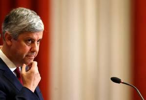 """O ministro das Finças de Portugal, Mario Centeno: """"grandes exigências"""" da sociedade portuguesa Foto: PEDRO NUNES / REUTERS"""