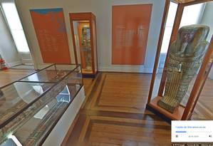 A rica coleção sobre o Egito antigo que o Museu Nacional possuía Foto: Google Arts & Culture