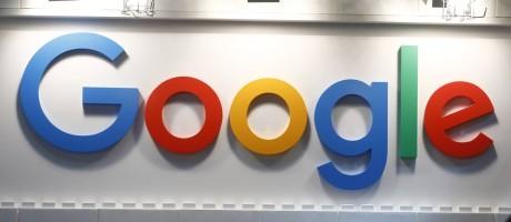O logo da Google em um evento na Alemanha Foto: Michele Tantussi / Getty Images