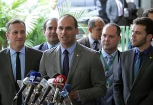 O deputado federal Eduardo Bolsonaro Foto: Jorge William / Agência O Globo
