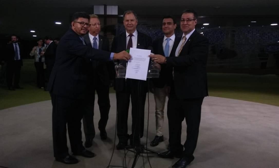 Candidatos à presidência da Câmara formam aliança contra Maia Foto: Bruno Góes / Agência O Globo