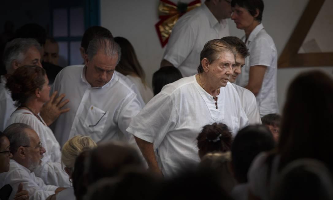 O médium João de Deus chega na Casa de Dom Inácio de Loyola na manhã desta quarta Foto: Daniel Marenco / Agência O Globo