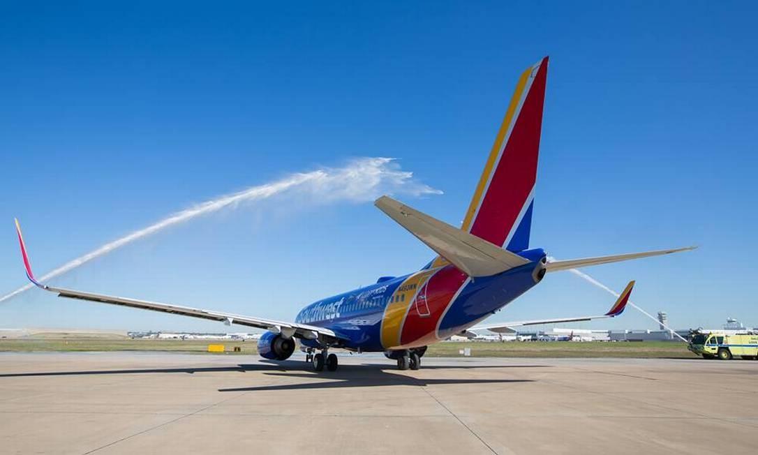 Avião da companhia Southwest Airlines Foto: Stephen M. Keller / Divulgação/Southwest Airlines