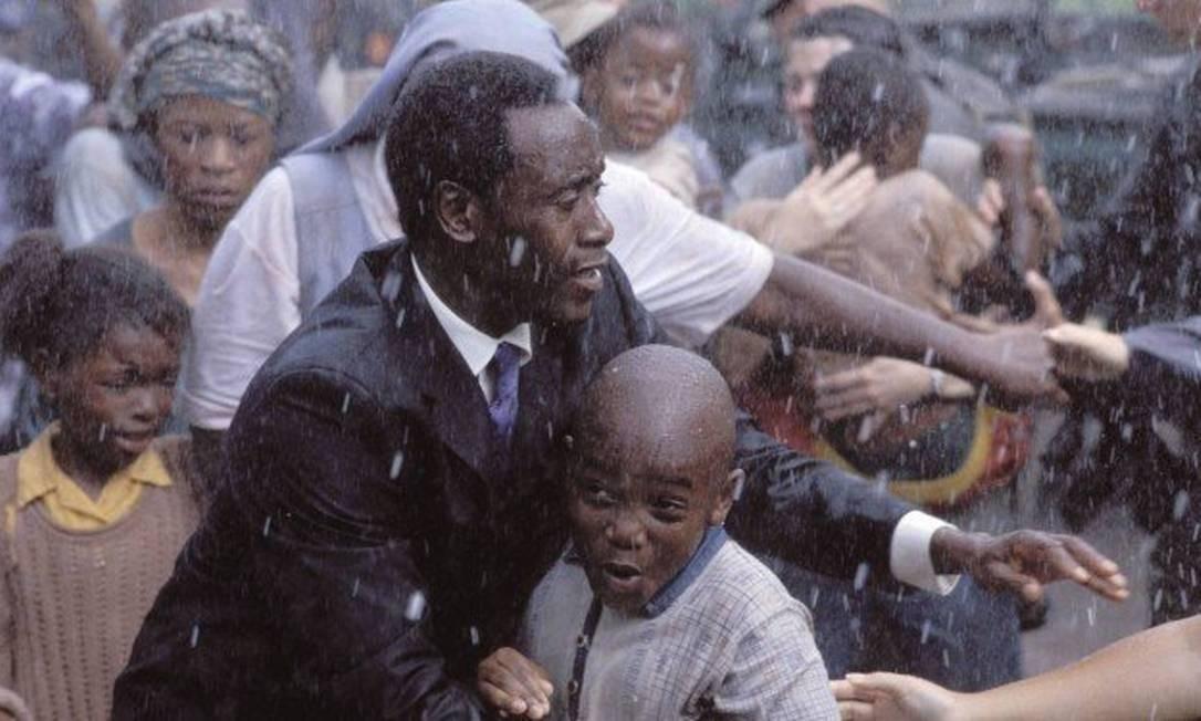 Trecho do filme Hotel Rwanda Foto: Reprodução