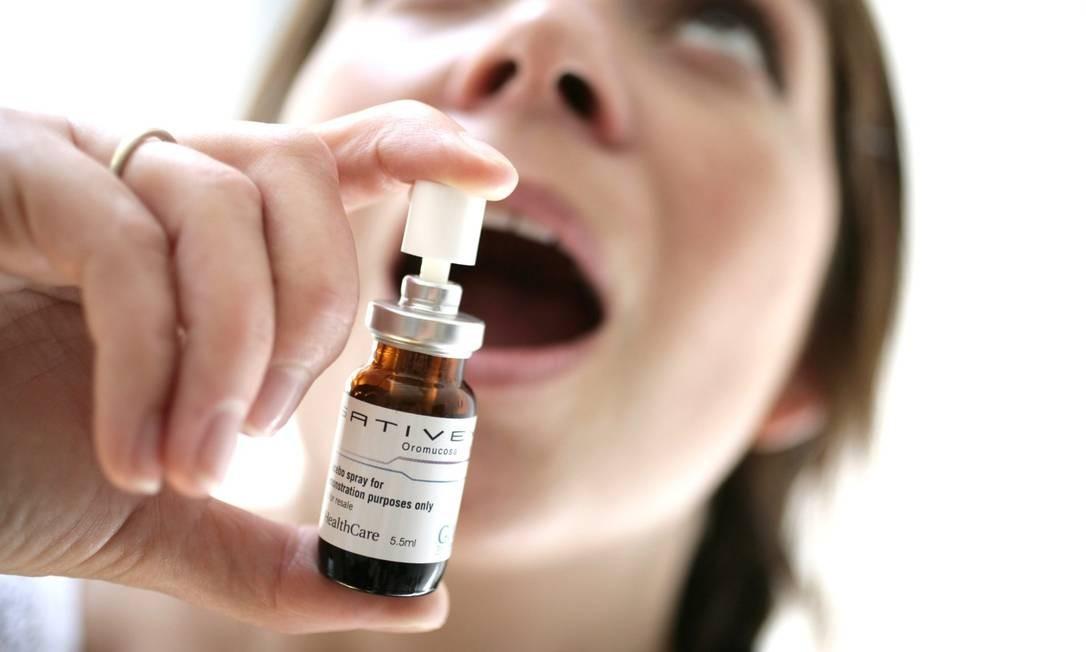 Vendido no Reino Unido com o nome comercial Sativex, o spray já pode ser usado por pacientes de esclerose múltipla no país europeu Foto: GW Pharmaceuticals / GW Pharmaceuticals
