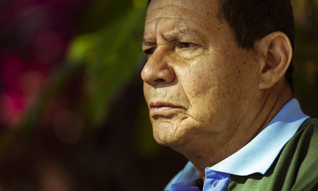 O vice-presidente eleito, general Hamilton Mourão Foto: Leo Martins / Agência O Globo