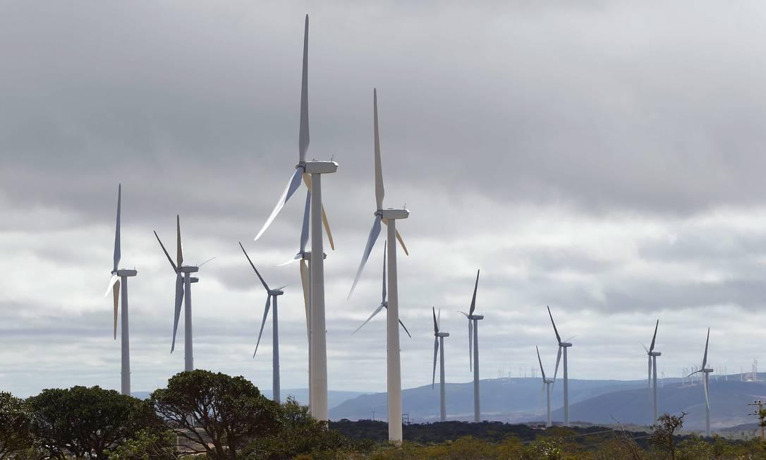 Campo de energia eólica em Catité, no sertão da Bahia. Foto: Pablo Jacob / O Globo