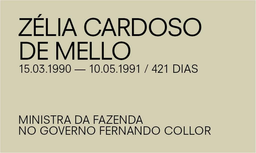 Para Paulo Guedes, de Zélia Cardoso de Mello Foto: Agência O Globo