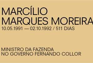 Para Paulo Guedes, de Marcílio Marques Moreira Foto: Agência O Globo