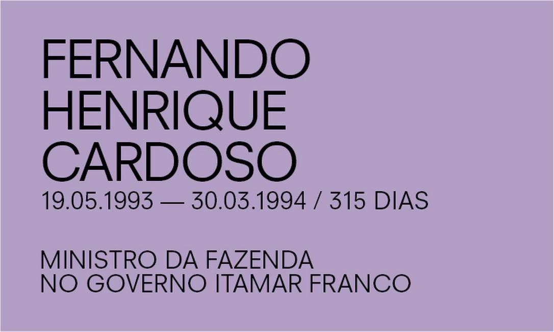Para Paulo Guedes, de Fernando Henrique Cardoso Foto: Agência O Globo