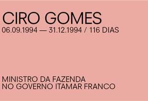 Para Paulo Guedes, de Ciro Gomes Foto: Agência O Globo
