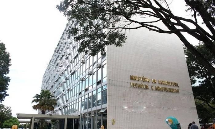 Fachada do Ministério da Agricultura, em Brasília Foto: Reprodução/Mapa