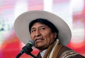 Presidente boliviano, Evo Morales, durante cerimônia em Oruro Foto: DAVID MERCADO / REUTERS
