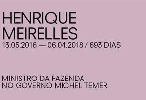 Para Paulo Guedes, de Henrique Meirelles Foto: Agência O Globo