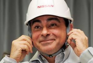 Ex-presidente do Conselho de Administração da Nissan, ele foi preso sob a acusação de ter informado no Japão rendimentos menores do que os recebidos Foto: AFP