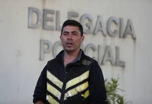 O mototaxista Flávio Pereira: