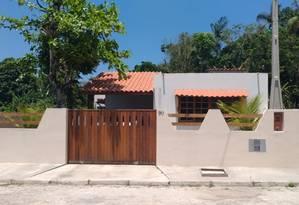Fachada da casa onde o ex-ativista italiano Cesare Battisti viveu os últimos meses em Cananeia, no litoral sul de São Paulo Foto: Dimitrius Dantas / Agência O Globo