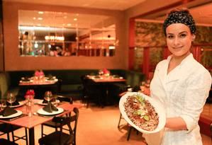 A chef Heaven Delhaye apresenta receita natalina especial Foto: Roberto Moreyra / Agência O Globo