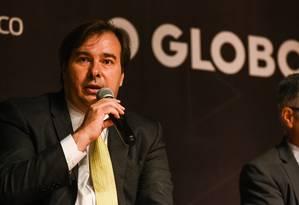 Rodrigo Maia (DEM-RJ), presidente da Câmara dos Deputados Foto: Alex Ferro / Agência O Globo