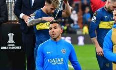 Tévez desolado após derrota na final da Libertadores Foto: Reprodução/Twitter