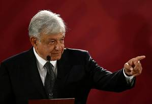 Novo presidente do México, López Obrador durante entrevista coletiva Foto: Edgard Garrido / REUTERS