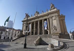 Prédio da Assembleia Legislativa do Rio, onde foram aprovados hoje dois projetos de lei que incentivam a produção cultural no estado Foto: Márcio Alves / Agência O Globo