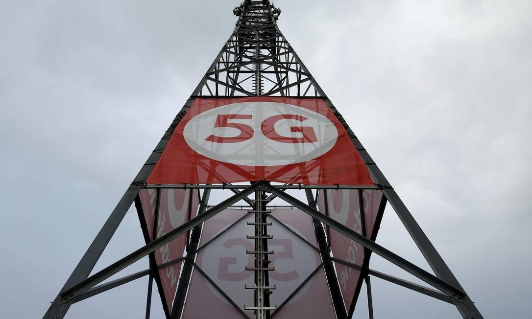 Antena para a tecnologia 5G na Alemanha: nova tecnologia oferecerá velocidade 50 vezes maior que a do 4G Foto: Reuters