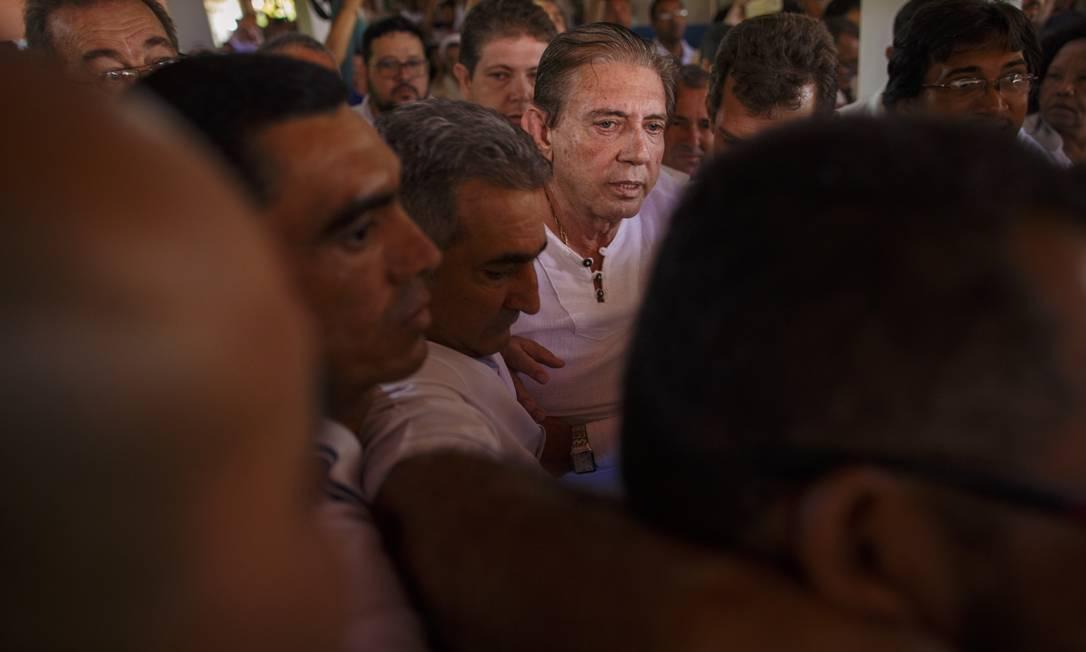 João de Deus visita a Casa Dom Inácio de Loyola, na última quarta-feira, em sua última aparição pública Foto: Daniel Marenco / Agência O Globo/12-12-2018