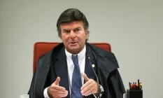 O ministro do STF Luiz Fux, que revogou o auxílio-moradia no fim de novembro; benefício agora pode voltar Foto: Ailton de Freitas / Agência O Globo