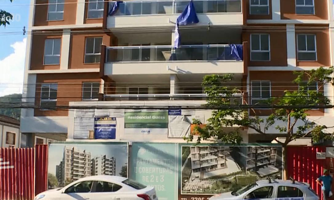 Apartamento em construção na Taquara Foto: Reprodução/Globonews