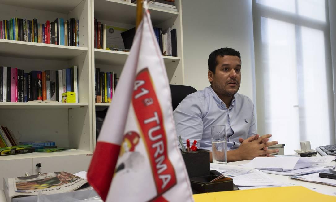 Leandro Monteiro: ex-subsecretário de Lazaroni assumiu oficialmente o cargo em dezembro de 2017 Foto: Alexandre Cassiano / Agência O Globo