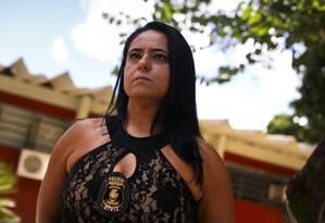 Delegada Karla Fernandes, responsável pela força-tarefa que investiga João de Deus Foto: Daniel Marenco / Agência O Globo