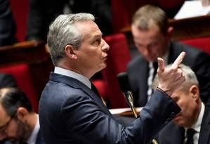 O ministro das Finanças francês Le Maire: meio bilhão de euros em impostos às gigantes tech Foto: BERTRAND GUAY / AFP