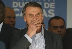 O presidente eleito Jair Bolsonaro participa de inauguração de escola da PM no Rio de Janeiro Foto: Pablo Jacob / Agência O Globo