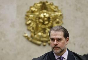 O presidente do Supremo Tribunal Federal (STF), ministro Dias Toffoli Foto: Jorge William / Agência O Globo