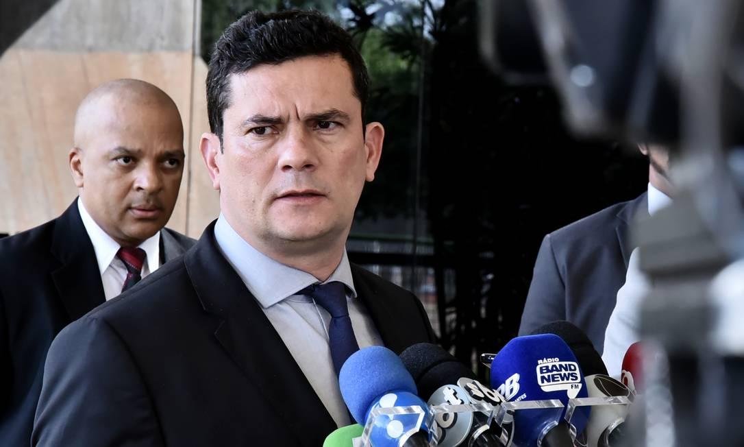 O futuro ministro da Justiça, Sergio Moro, durante entrevista coletiva no CCBB Foto: Rafael Carvalho/Divulgação