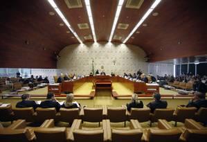 Plenário do STF, durante julgamento Foto: Rosinei Coutinho/STF/13-12-2018