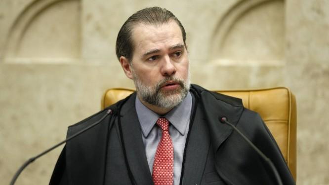 O presidente do STF, ministro Dias Toffoli, durante sessão Foto: Rosinei Coutinho/STF/13-12-2018