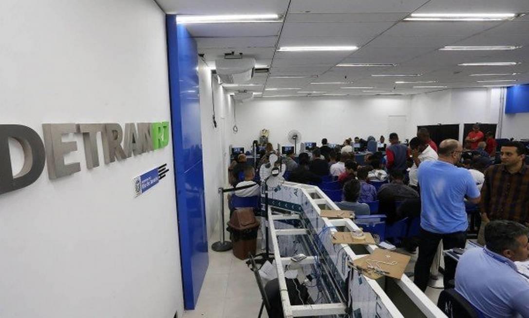 Sede do Detran-RJ: parcelamento pode ser feito na unidade, no Centro do Rio Foto: Guilherme Pinto em 09/11/2018 / Agência O Globo