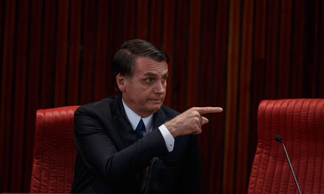 O presidente eleito, Jair Bolsonaro, na diplomação, no dia 10 Foto: Daniel Marenco / Agência O Globo