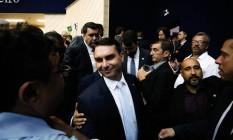 'Meu gabinete não é quartel', diz Flávio Bolsonaro sobre ex-assessor Foto: Pablo Jacob / Agência O Globo