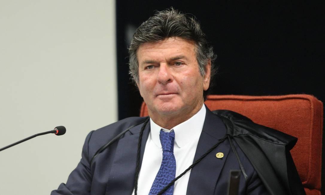 O ministro Luiz Fux, durante sessão da Primeira Turma do STF Foto: Nelson Jr./STF