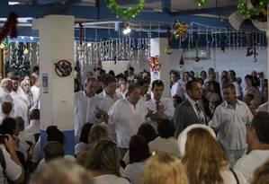 O médium João de Deus, em sua última visita à Casa Dom Inácio de Loyola, na quarta-feira (12) Foto: Daniel Marenco/12-12-2018 / Agência O Globo