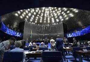 Plenário do Senado durante sessão Foto: Waldemir Barreto/Agência Senado