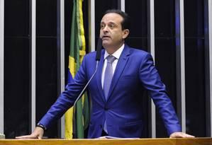 O deputado federal André Moura, durante pronunciamento na Câmara Foto: Luis Macedo/Câmara dos Deputados/13-11-2018