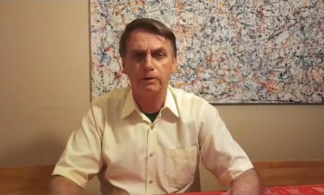Bolsonaro disse em vídeo que irá agir contra Venezuela e Cuba 'dentro da legalidade e da democracia' Foto: Reprodução